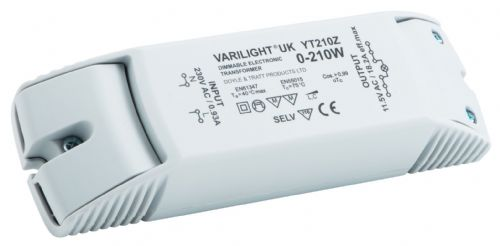 Varilight YT210Z Lighting Transformer 0-210VA Dimmable Low Voltage (with Terminals)